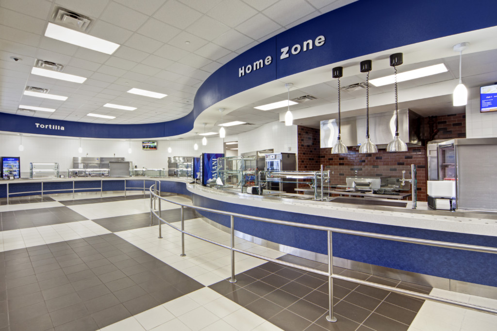 Cafeteria at Midlothian Heritage High School