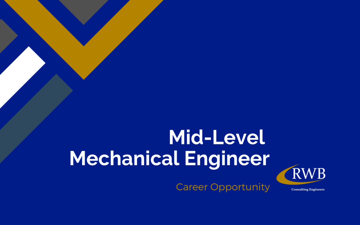 We're hiring! Join RWB as a mechanical engineer.