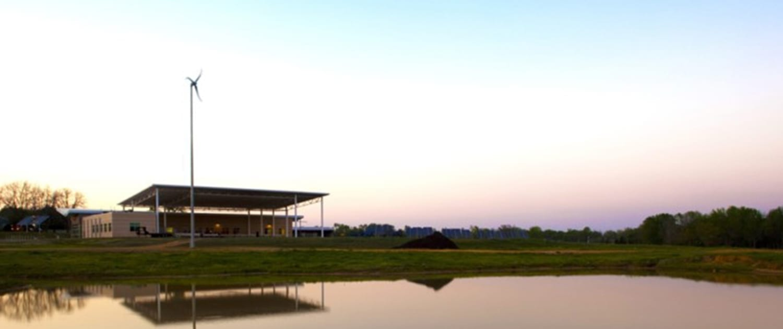 Pond at NTCC Ag Building