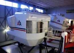 American Airlines flight simulators exterior