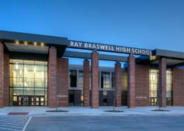 Ray Braswell High School in Denton Texas is a geothermal project designed by RWB Consulting Engineers
