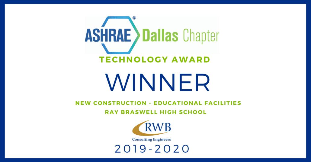 ASHRAE Dallas Technology Award Winner 2019-2020