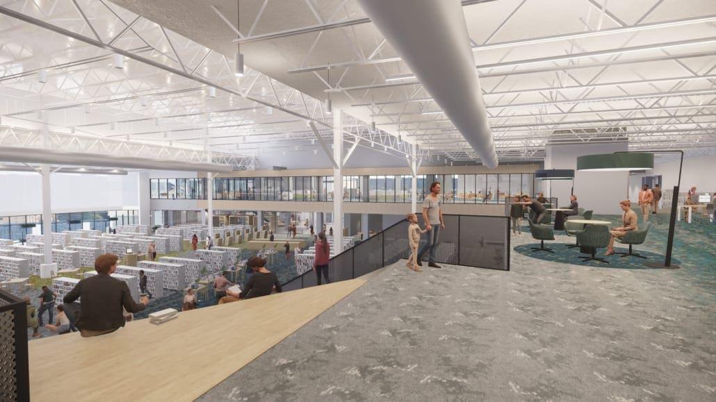 Frisco Public Library Mezzanine View